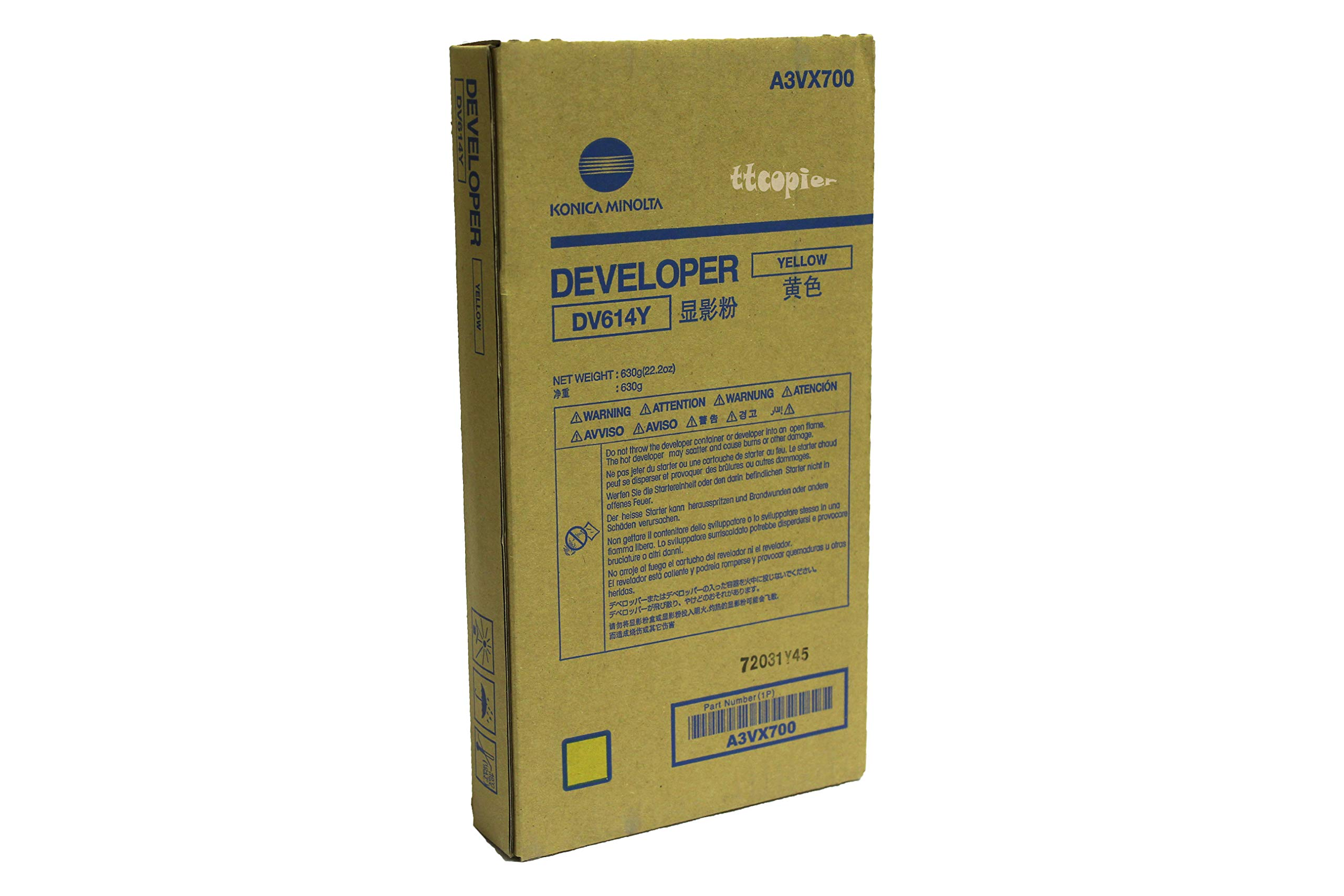 Genuine Konica Minolta A3VX700 DV614Y Yellow Developer for C1060 C1070