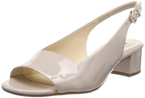5-10 2105 0800, Zapatos de Talón Abierto para Mujer, Beige (Cotton), 37 EU Högl