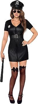 Generique - Disfraz de policía Mujer Sexy Negro M/L: Amazon.es ...