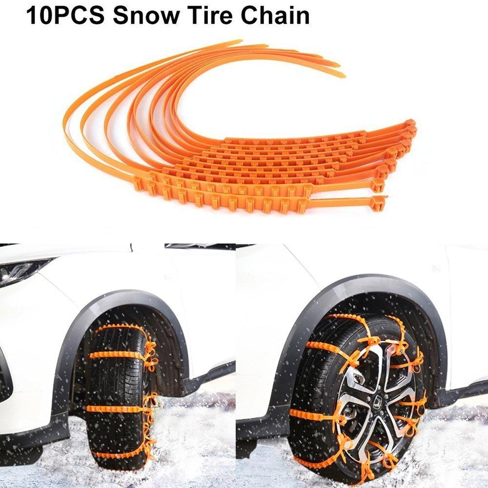 Catena per gomme da neve 10 PZ Catene antiscivolo portatili Catene di sicurezza per auto Catene per tire chain