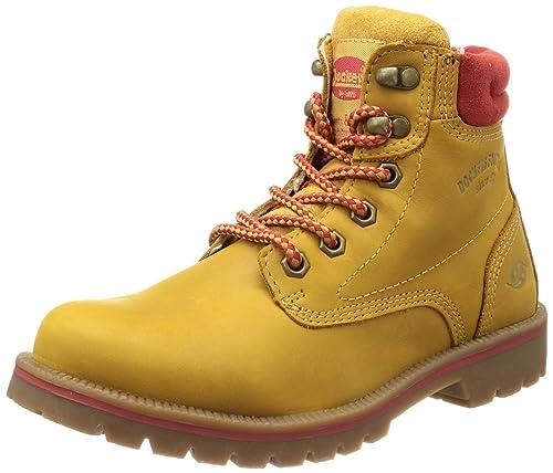 Dockers 330512-007555 - Botines desert de cuero mujer, color beige, talla 42: Amazon.es: Zapatos y complementos