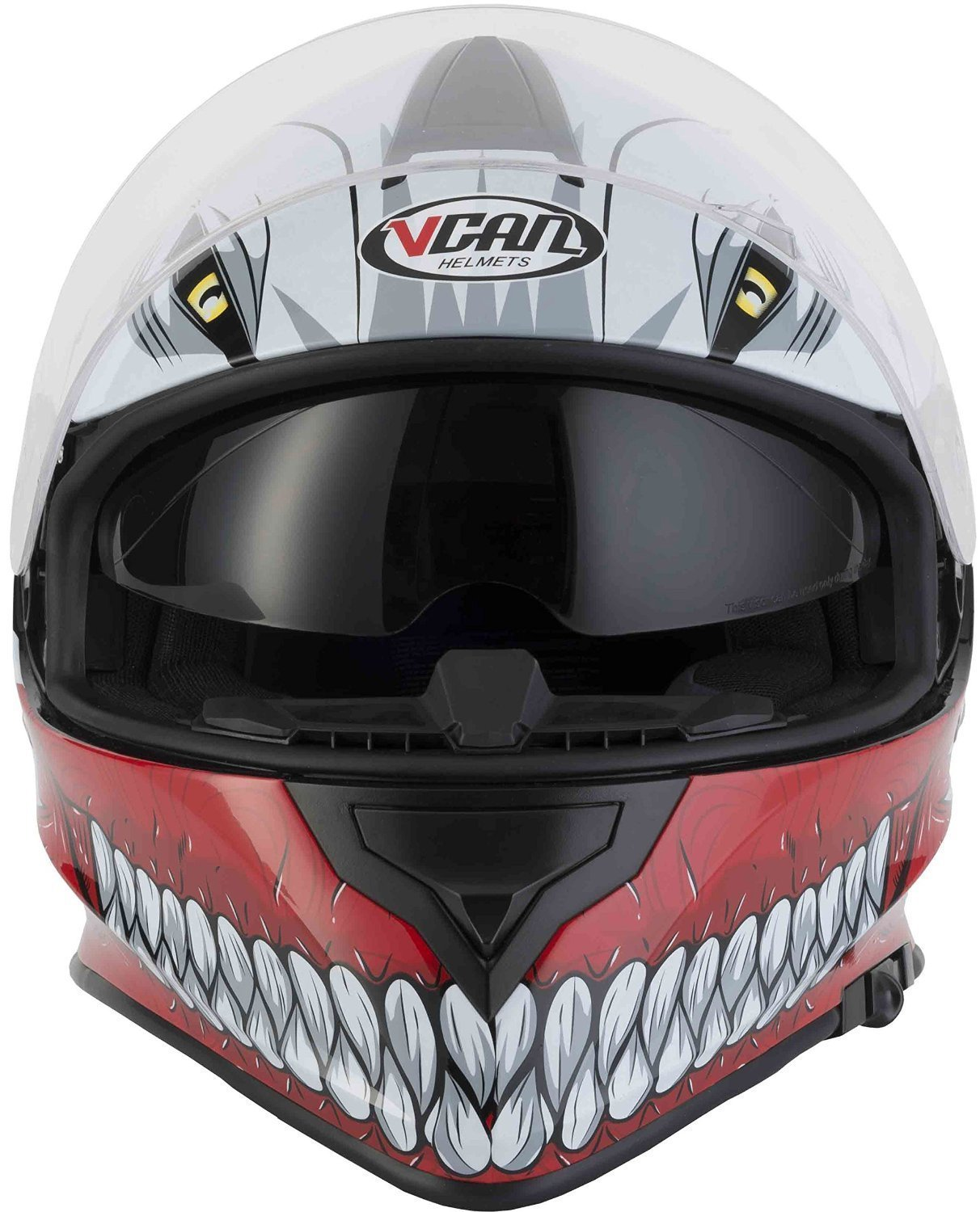 VCAN V127 Full Face Double Sun Visor Motorbike Motorcycle Helmet Hollow Red M