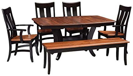 Amazon Com Solid Wood Dining Room Kitchen Table Set Amish Made