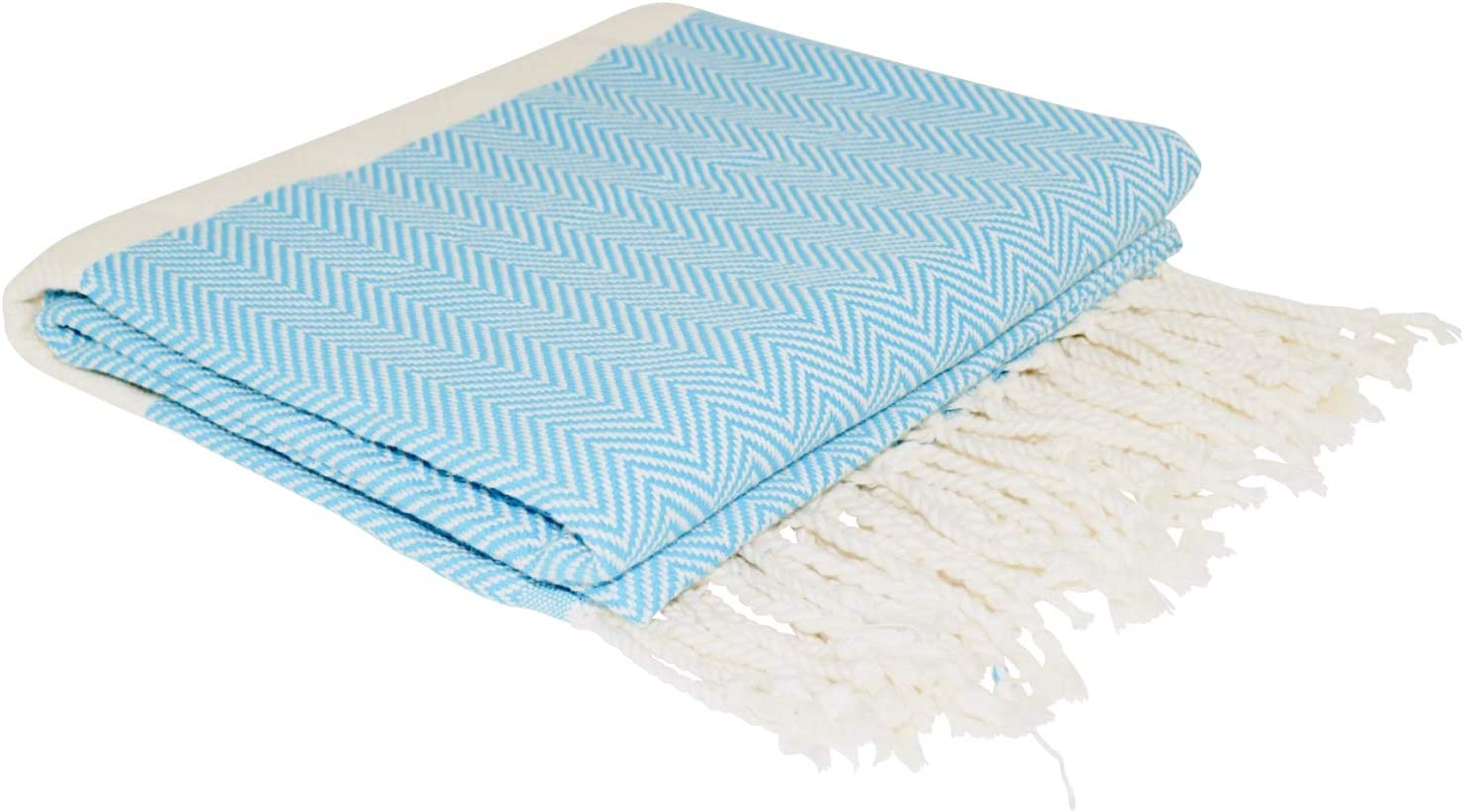 SCN Premium Serviette de hammam 100/% Coton Turquoise certifi/é /Öko-Tex 100 100 x 180 cm Beige