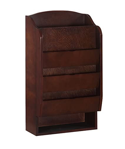 Delicieux Door Entry Organizer With Mail Sorter In Mahogany
