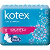 Kotex Soft and Smooth Ultrathin Wing Feminine Care Pads, 23cm, 18ct