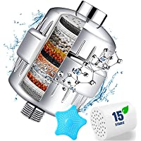 15 Stage Shower Filter with Vitamin C for Hard Water - Water Softener Shower Head Filter with Replaceable Multi-Stage…