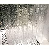 "Ryhpez Shower Curtain Liner - Clear Shower Curtain Set with Hooks | 72""x72"""