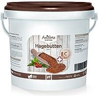 AniForte Hagebutten-Pulver 1 kg - Besonders reich an Vitamin C- Naturprodukt für Hunde und Pferde