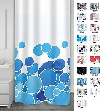 Ridder 403073 Duschvorhang Textil Ca 180 X 200 Cm Kani Blau