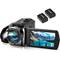 Video Camera Camcorder kimire Digital YouTube Vlogging Camera Recorder Full HD 1080P 15FPS 24MP 3.0 Inch 270 Degree…