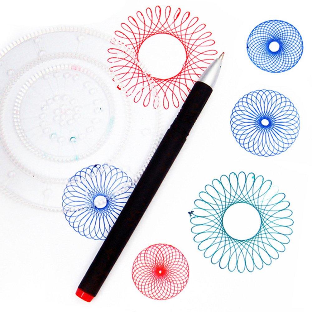 Idea Regalo Righello Geometrico per Studenti elegantstunning Spirografo Creativo per Bambini