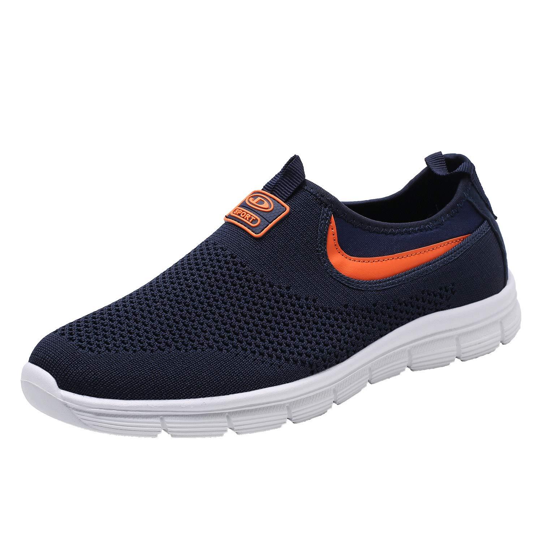 Socviis Mens Casual Athletic Sneakers Comfort Running Shoes Slip On Shoe for Men Walking Working Tennis Aerobics Gym(1008Navy Blue43)