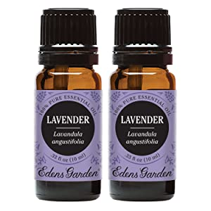 Edens Garden Lavender Essential Oil, 100% Pure Therapeutic Grade (Highest Quality Aromatherapy Oils- Skin Care & Stress), 10 ml Value Pack