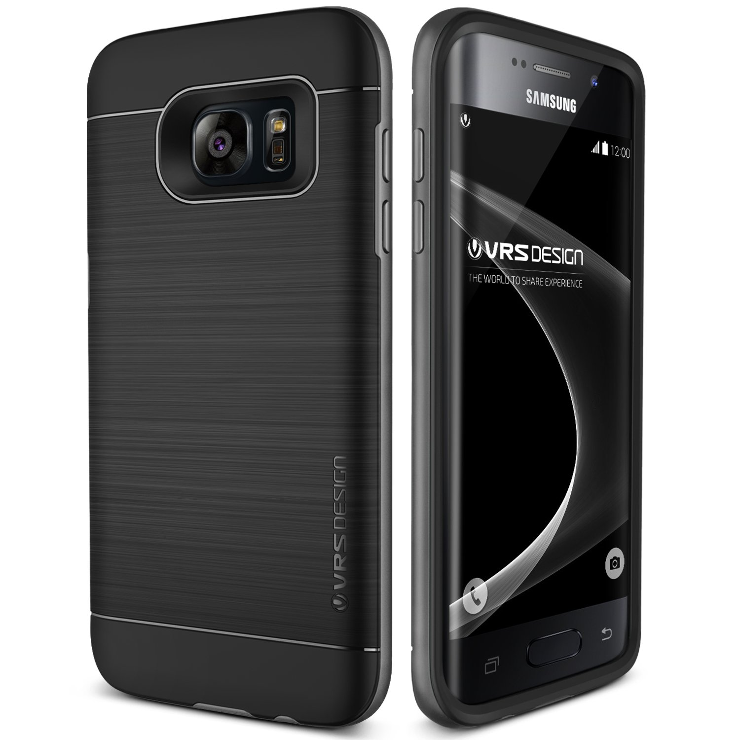 Galaxy S7 Edge Case, VRS Design [High Pro Shield][Steel Silver] - [Military Grade Protection][Slim Fit] for Samsung S7 Edge