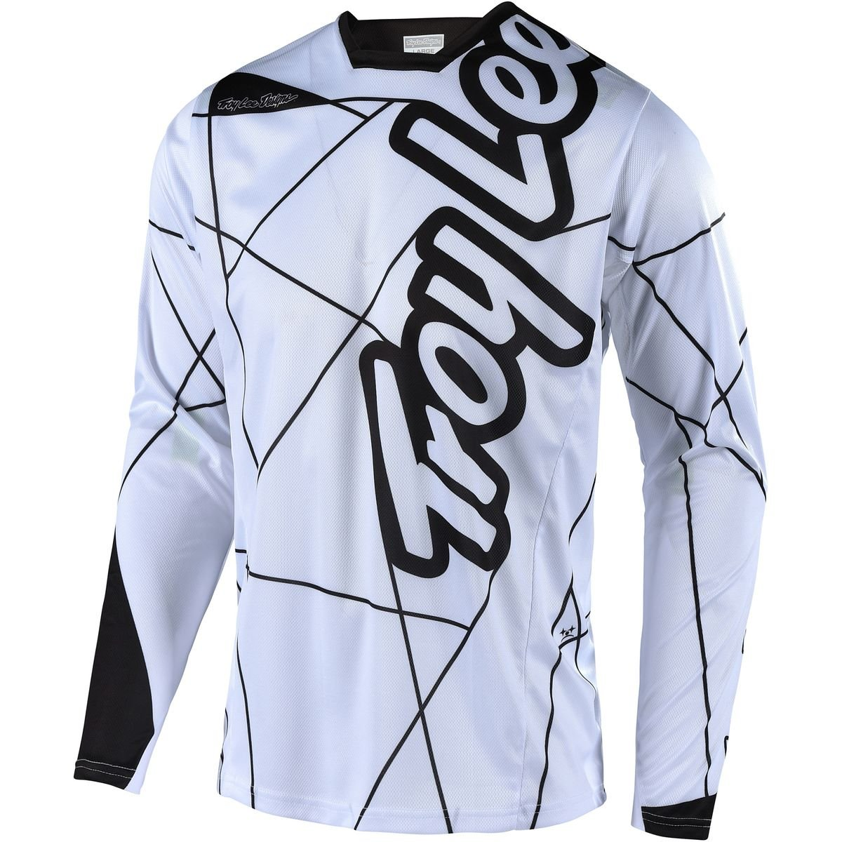 Troy Lee Designs Sprint Long-Sleeve Jersey - Men's Metric White/Black, S