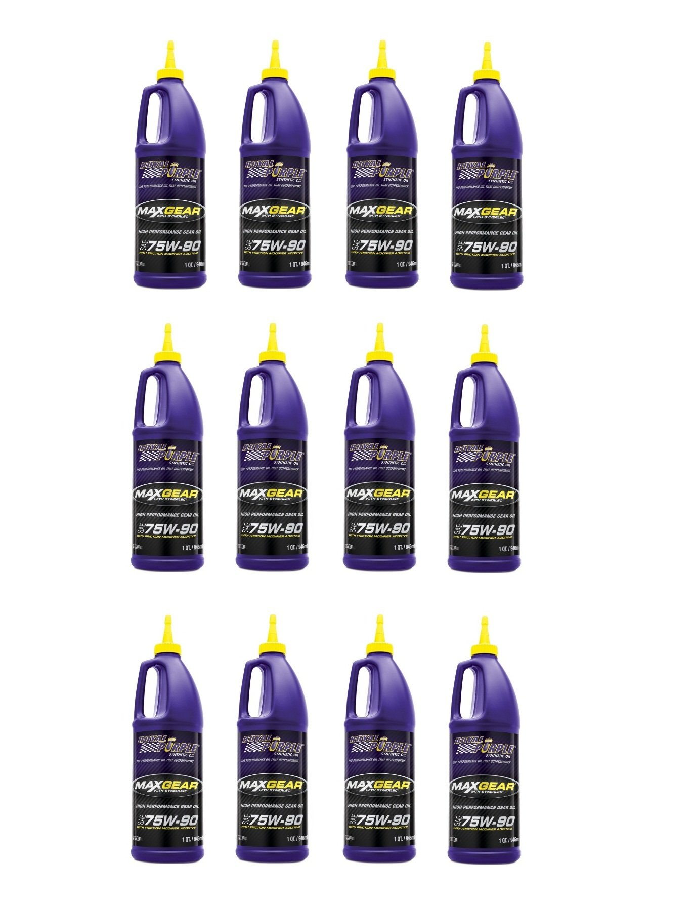 Royal Purple 12300 Max Gear 75W-90 High Performance Synthetic Automotive Gear Oil - 1 qt. (Case of 12) by Royal Purple