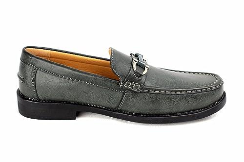 Hombres Zapatos de piel SIN CIERRES Inteligente Vestido Boda Oficina Formal Casual Mocasines - Café, 40