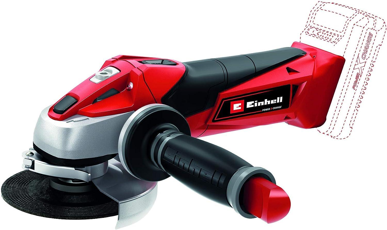 Einhell Expert TE-AG 18 Li Radial angular sin cable, sin batería, hoja de sierra, 8500 rpm, 18 V, 12 W, color rojo y negro (ref. 4431110)