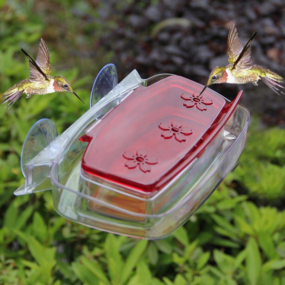 Maggift Window Hummingbird Feeder, 8-Ounce