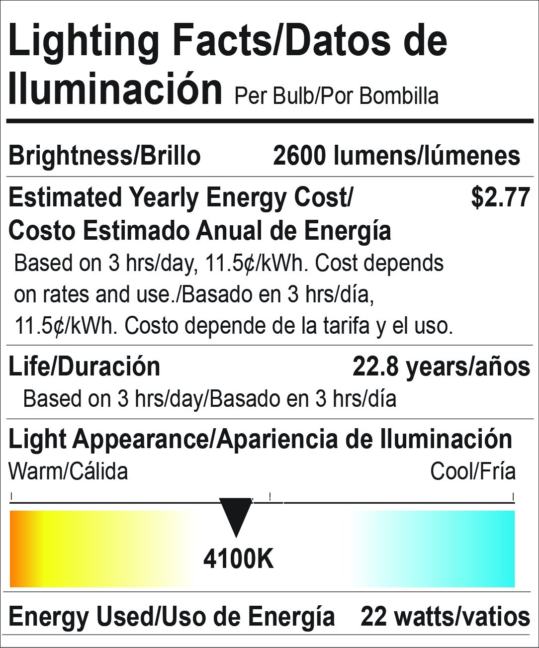 Goodlite G-19865 22W (150W Equivalent) 2600 Lm, Dimmable A21 LED Bulb with 240° Beam Angle, E26 Base, Cool White 4100k