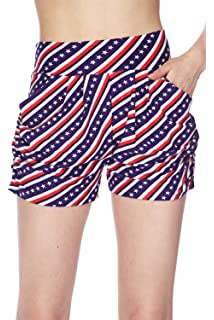 44672ca2a4 Bellarize Women's Premium Ultra Soft Harem Shorts with Pockets - Multiple  Styles