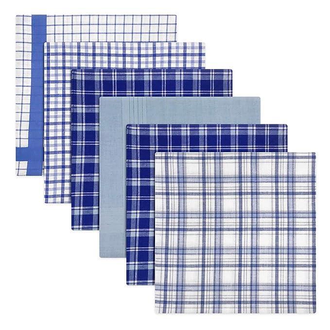 Warwick & Vance Pack de 6 pañuelos para hombre, diseño de cuadros ...