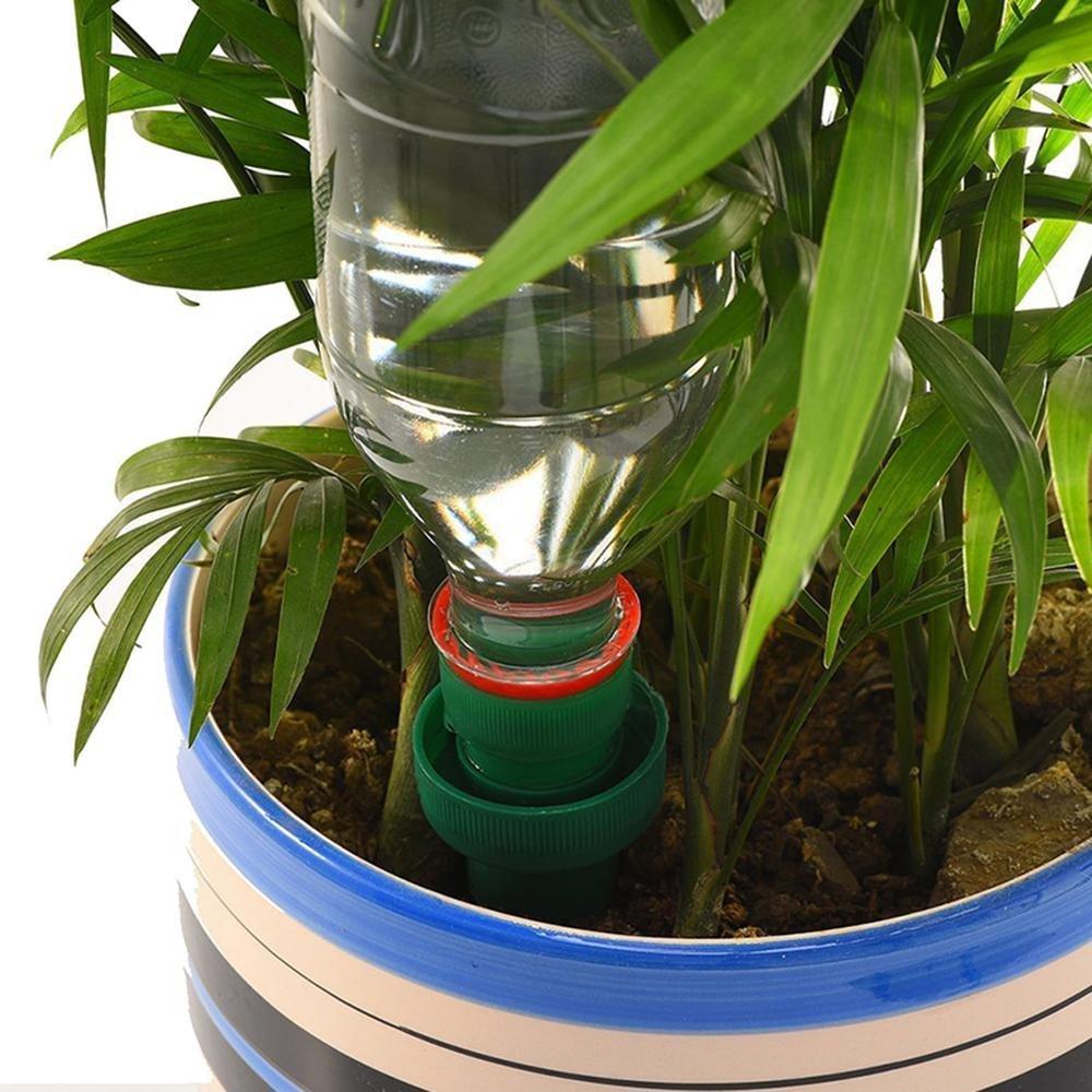 AOLVO Agujero para Plantas 4 Pack, cerámica de Vacaciones, Self-Watering Probes Plant Watering Spike Waterers Sistema de riego automático para Plantas en ...