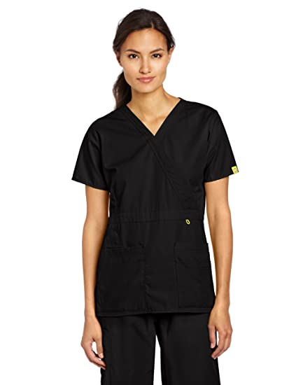af78f2a5a6a Amazon.com  WonderWink Women s Scrubs Golf Top  Medical Scrubs ...