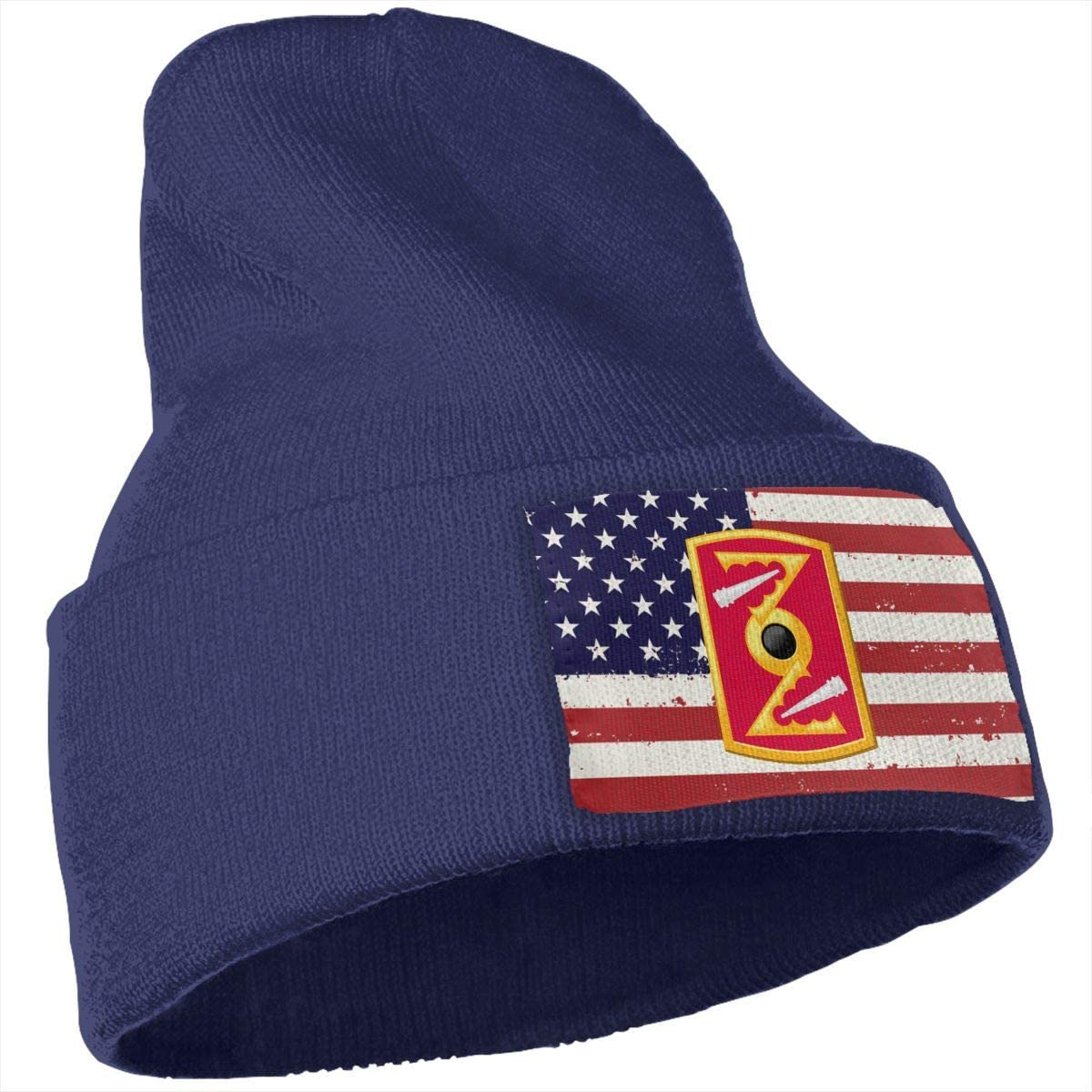 Jkilopd US Flag US Army 72nd Field Artillery Brigade Beanie Knitted Hat Skull Cap