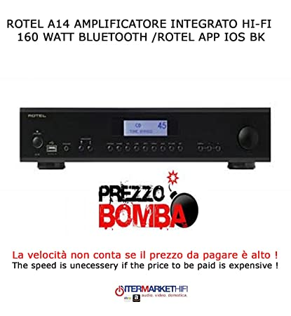 Rotel A14 amplificador integrado Hi-Fi 160 W/Bluethoot/Rotel App IOS BK