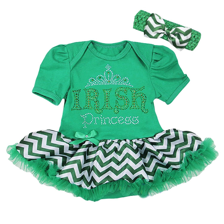 Amazon Baby St Patricks Day Chevron Irish Princess Bodysuit