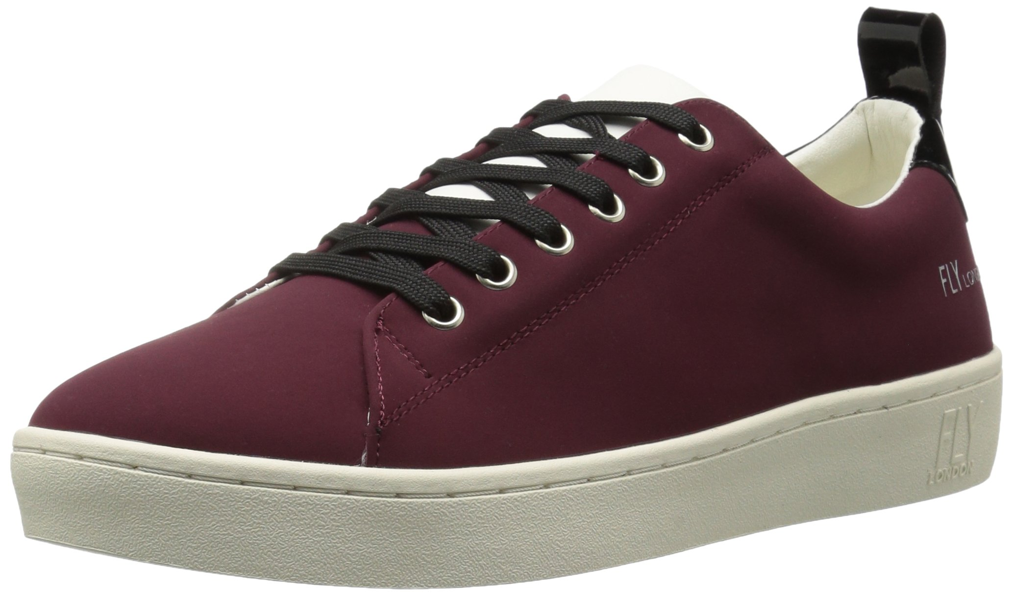 FLY London Women's MACO833FLY Sneaker, Bordeaux/Black Nubuck/Patent, 37 M EU (6.5-7 US)