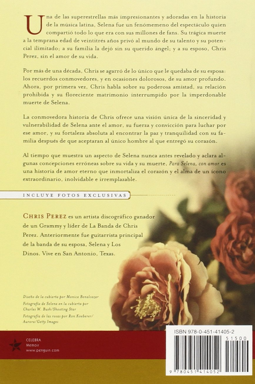 Para Selena Con Amor Spanish Edition Chris Perez 9780451414052 Amazon Com Books