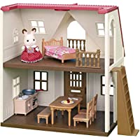 Sylvanian Families 5303 Red Roof Cosy Cottage Starter Home Playset, Multicolour