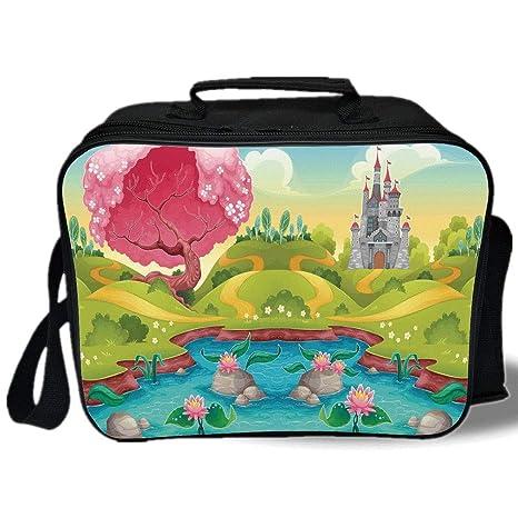 71d4d4ad5e1c Amazon.com: Kids 3D Print Insulated Lunch Bag, Fantasy Landscape ...