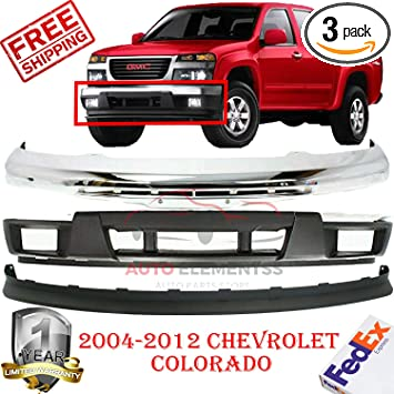 Bumper for GMC Sierra 03-07 Front Bumper Chrome w//Fog Light Hole Old Body Style