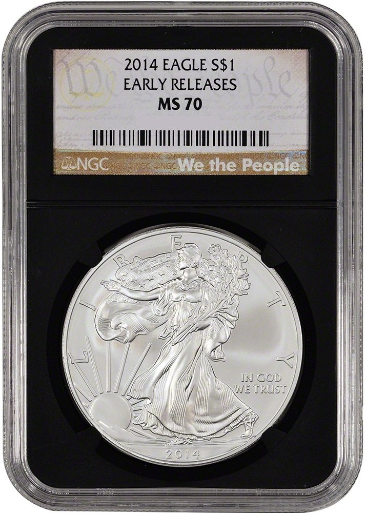 2014 American Silver Eagle Dollar NGC MS70 Early Relases