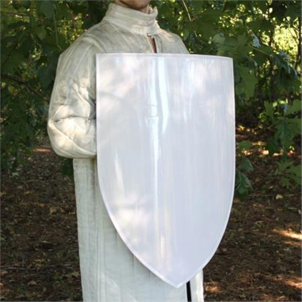 Blank European Warrior Knight Classic Medieval Heater Steel Kite Shield LARP by General Edge (Image #2)