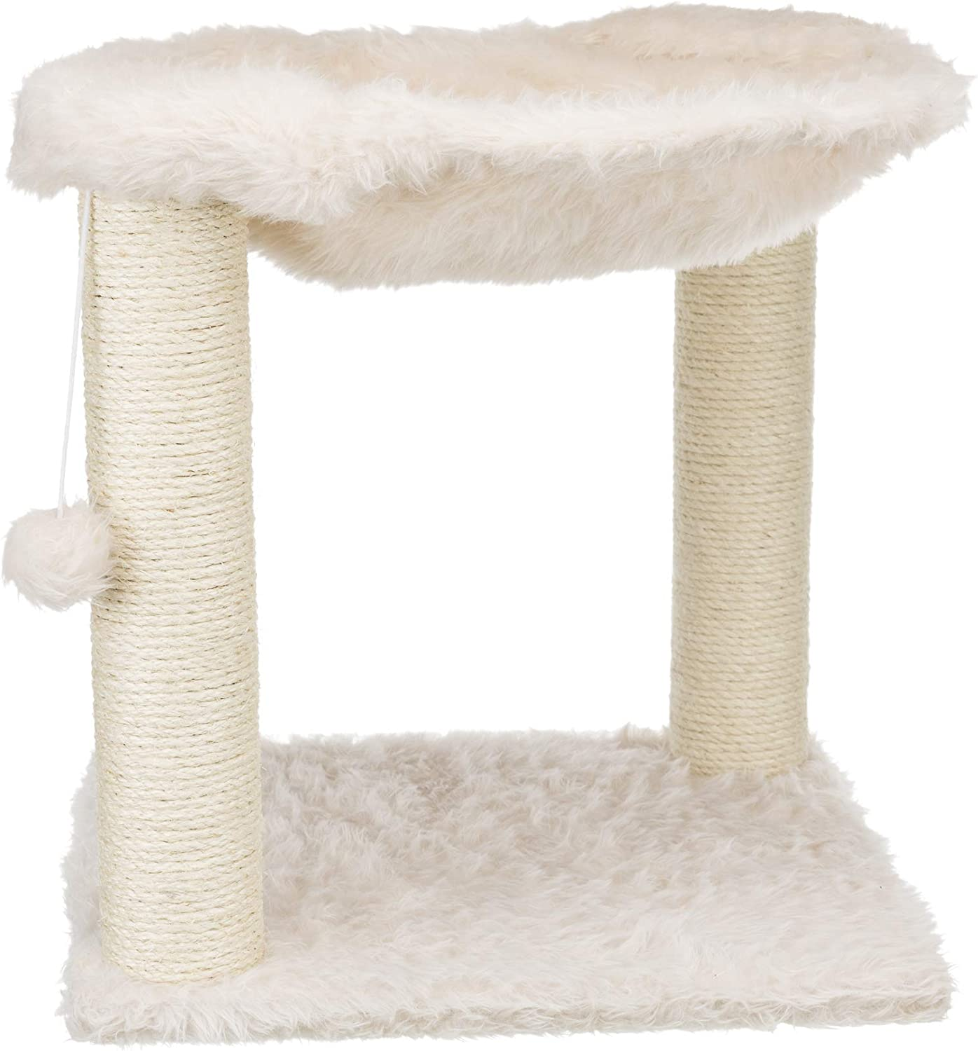 Cream Trixie Baza Scratching Post with Hammock XXL Dangling Pom-Pom 44552 for Large Cats