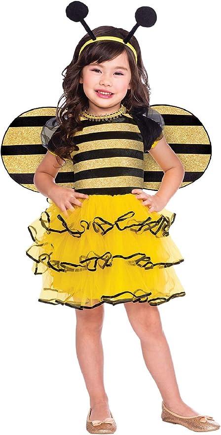 Disfraz de carnaval para niñas con diseño de abeja y miel: Amazon ...