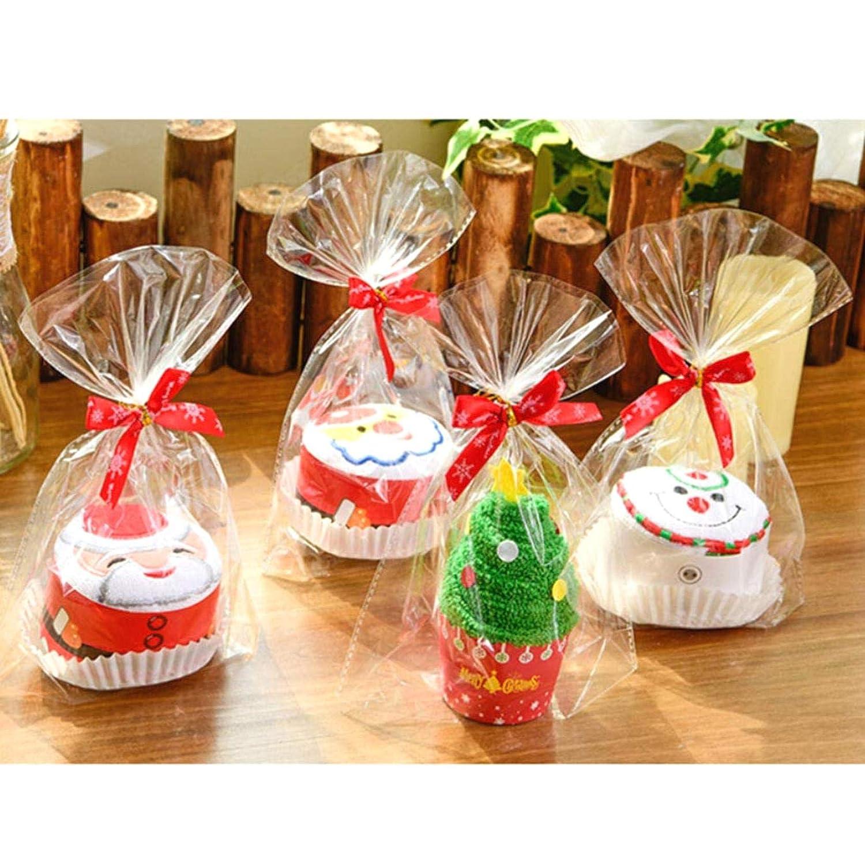 Mu/ñeco de Nieve ALONGB 2PCS Toallas de Navidad Toalla Toalla de ba/ño Forma de Pastel Toalla de Mano Suave Suministros para Fiestas Familiares y Amigos