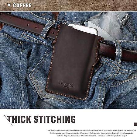 Männer Handy Loop Holster Fall Gürtel Taille Tasche Requisiten Leder GeldbörsXUI