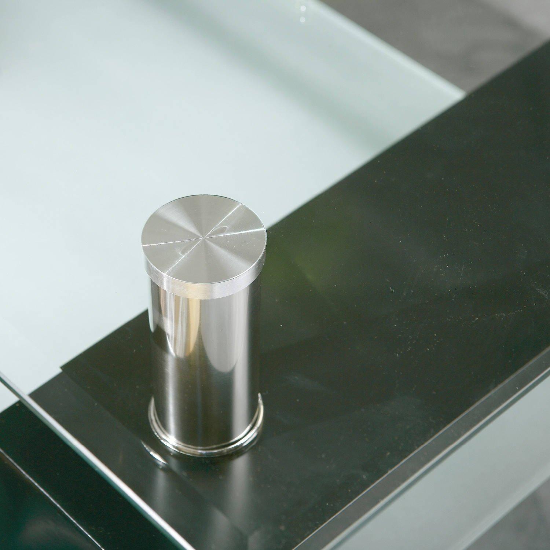 Links 50100045 Couchtisch Glas Wohnzimmertisch Wohnzimmer Tisch Beistelltisch Schwarz NEU Amazonde Kche Haushalt