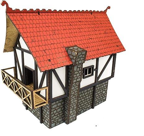 War World Gaming Medieval Town – Casa Grande de Ciudad (Pintada ...