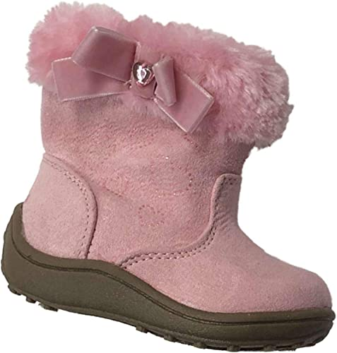 Rhinestone Faux Fur Boots Baby Shoes