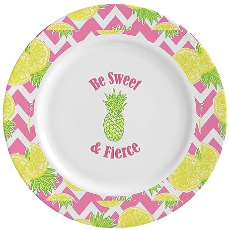Pineapples Ceramic Dinner Plates (Set of 4) (Personalized)  sc 1 st  Amazon.com & Amazon.com   Pineapples Ceramic Dinner Plates (Set of 4 ...