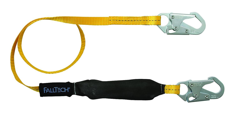 FallTech 8256LT FTBasic 6 Yellow//Black Single Leg with 2 Snap Hooks Soft Pack SAL