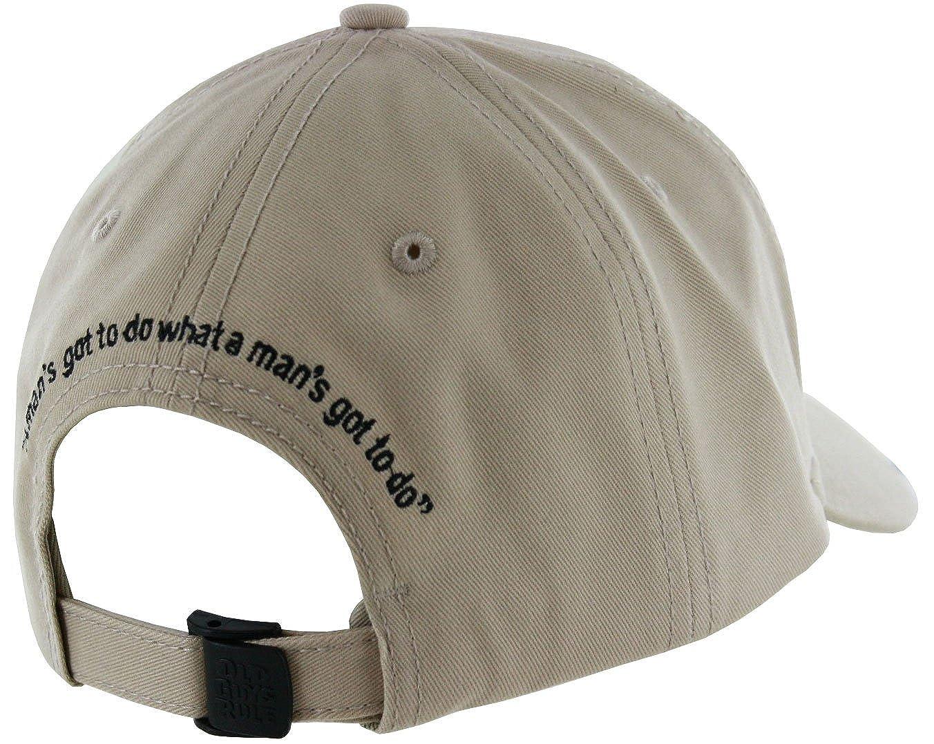 "OLD GUYS RULE JOHN WAYNE /""GOT TO DO CAP/""A MANS GOT TO DO WHAT A MAN/'S GOT TO DO/"""