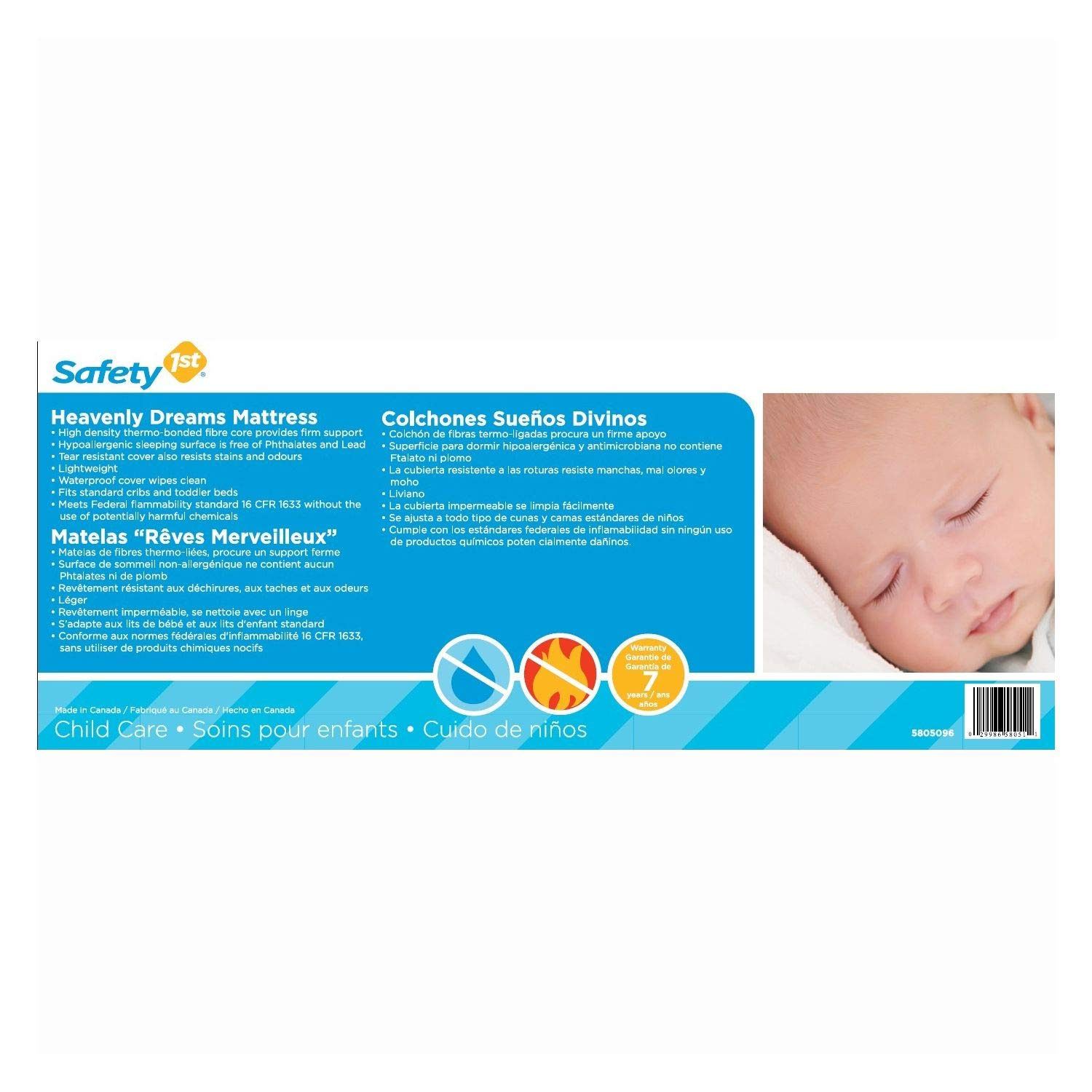 Amazon.com: SAFETY 1st Heavenly Dreams Babys Mattress Lightweight: Toys & Games